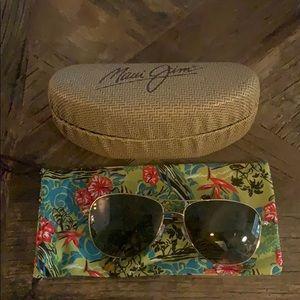 Maui Jim Cliff House Sunglasses Gold Polarized